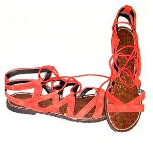 Sam Edelman red sandals size 8